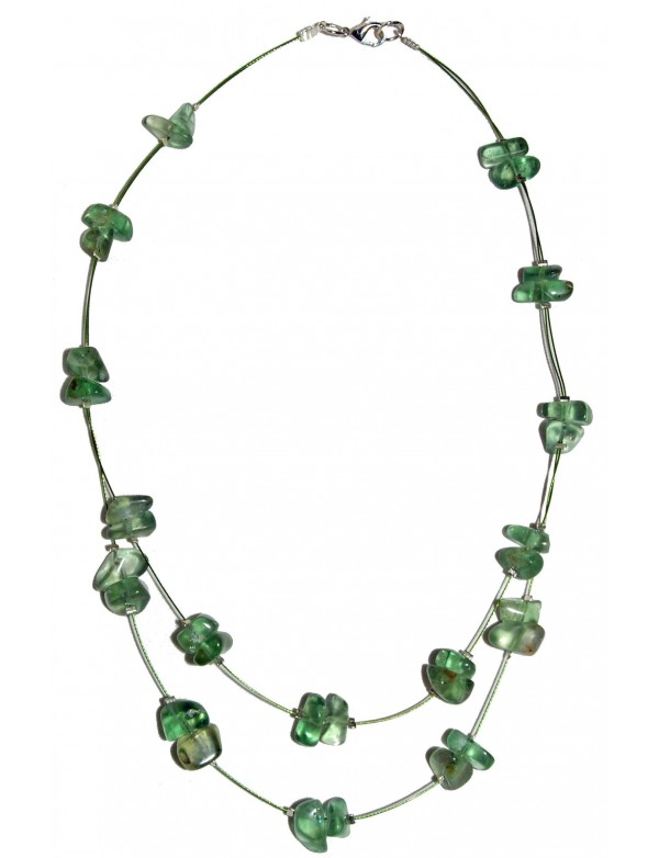 Collier Baroque Fluorine 2 rangs
