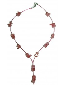 Collier baroque Quartz Rose Y