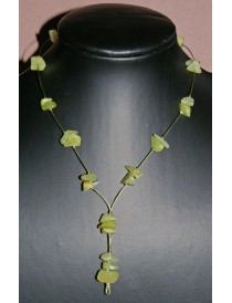 Collier Baroque Opale Vert Anis