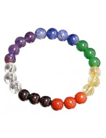 Bracelet 7 chakras billes 8 mm