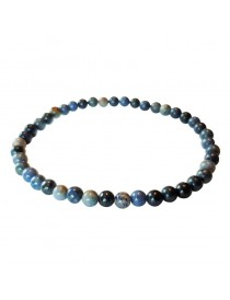 Bracelets Quartz Dumortiérite (Quartz Bleu) Billes 4 mm