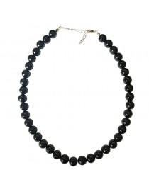 Collier Onyx Noir Billes 10 mm