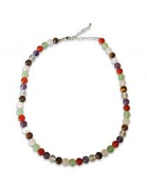 Collier Multi-pierres Billes 8 mm