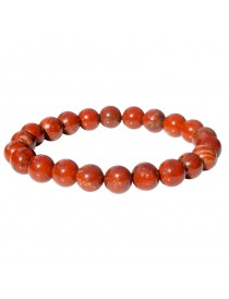 Bracelet en billes Jaspe Rouge 8 mm